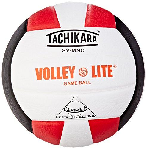 H/BLK volley-lite Mikrofaser Volleyball, Composite Leder, Scarlet/Weiß/Schwarz ()