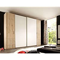 Comparador de precios Avanti Trendstore - Modelo Silva -Armario con puertas batientes y puertas correderas en roble San Remo, color claro/blanco de imitación. Dimensiones (aprox.):267x 226x 58cm - precios baratos
