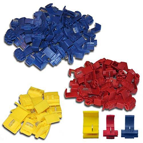 LUOEM 100 Stück Abzweigverbinder Set (Verschluss Spannung-kit)