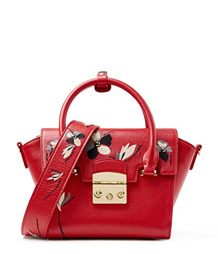 EMINI HOUSE Sac à main pour femme rouge Red Small