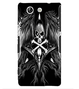 ColourCraft Skull with Wings Design Back Case Cover for SONY XPERIA Z4 MINI / COMPACT