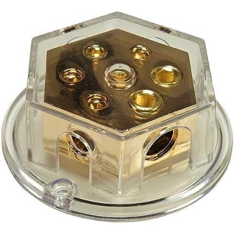 Collegamento Della Linea Di Base Distributore Solido, placcato oro, rotondo, E: 2X50, A: 4x25qmm - Linea Distributore