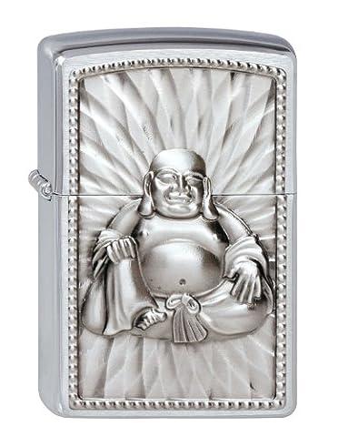 Zippo briquet, Buddha, 3-D Emblème, Chromé