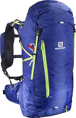 Salomon Leichter Wanderrucksack, Peak 40, blau/grün, 40 L, L39294200