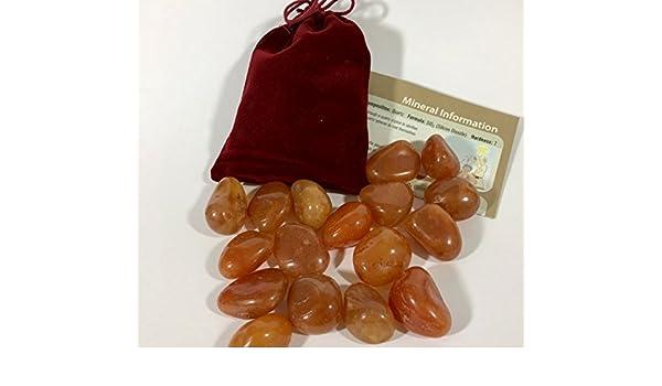 300g Carnelian Junior Geo Tumbled Gemstones