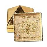 "Divya Mantra Vastu Wish Multilayered 1"" Zinc Pyramid-Golden"