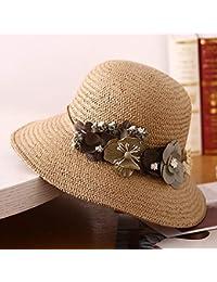 Cappello - Cappello da Donna Estivo in Tessuto Pieghevole Cappello da Sole  Estivo in Tessuto con Protezione Solare Cappello da Sole (4 Colori)… f0503df174c7