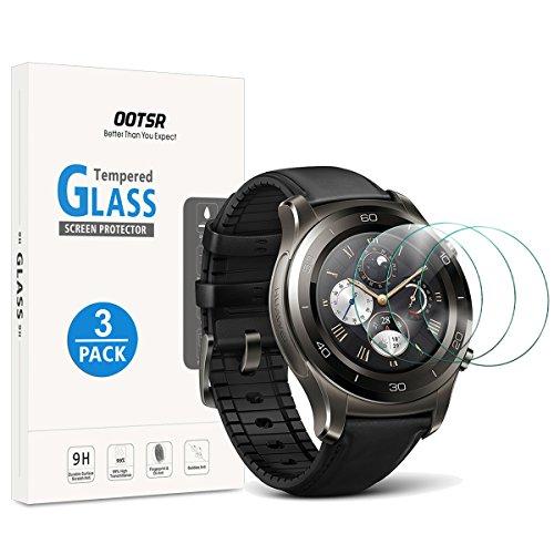 OOTSR (3 Pezzi Proteggi Schermo in Vetro temperato per Huawei Watch 2 / Watch 2 Sport/Watch 2 Classic Pellicola Protettiva [Anti-graffio]