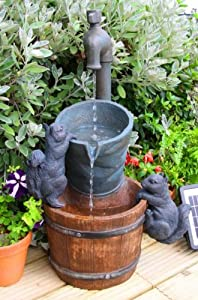 Small Solar Powered Water Feature Buckets and Tap PC504