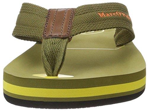 Marc O'Polo 70023691003624 Beach Sandal, Sandales  Bout ouvert homme Grün (khaki/yellow)