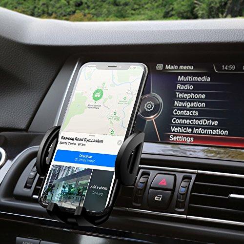Handyhalterung Auto, POSUGEAR Handy Halterung Auto Lüftung Handyhalter KFZ Lüftungsschlitz Halter Universal Autohalterung für iPhone x 8 7 6 6s Plus, Samsung galaxy S8, Huawei, HTC und mehr. - 5 Gehäuse Iphone Rückseite