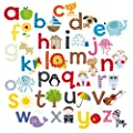 Happy Spaces (54 x 54 x 2 cm) Kids Wall Art Canvas Print Alphabet A to Z by Laila Hills - low-cost UK light store.