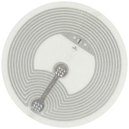 NFC21 68224 Sticker, NTAG 216, 888 Byte, 29mm, 20 Stück für NFC Smartphone weiß