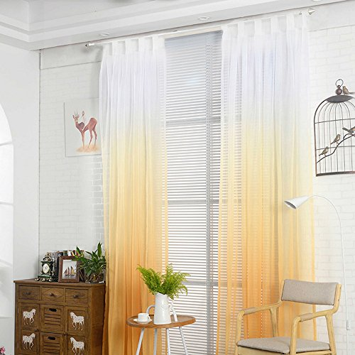 1 pc tenda gradiente luminosa moderna tende da finestra morbido per soggiorno, camera da letto (245cmx140cm)