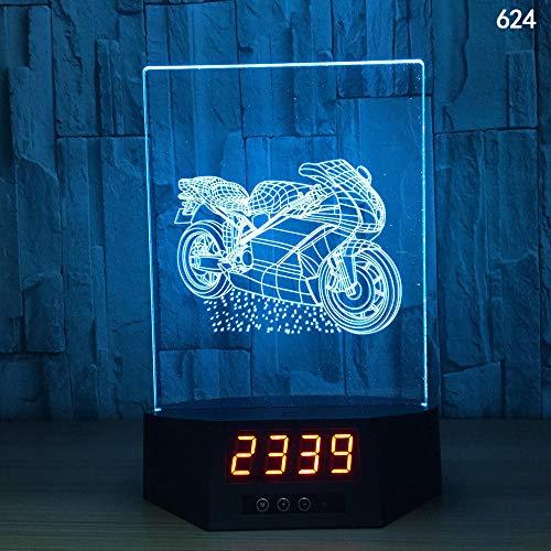 3D Illusion Lampe Nachtlicht optische Lampe Schreibtischlampe Kreative Smart-Home-Touch-Sensor-Nachtlicht-USB-Tischlampe der Induktion 3D, 624, bunt, Fernbedienung, Note - Smart Basketball Sensor Der