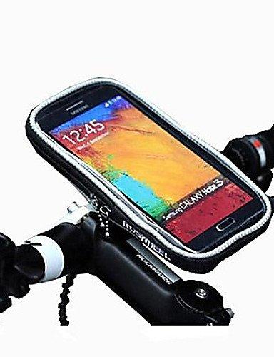 ZXC/ROSWHEEL Fahrrad Schutz Lenkertasche Tasche Transparent PVC anfassbar für 5,5Handy Orange