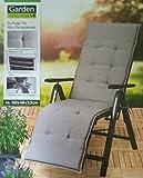 Garden Feelings Auflage für Alu Relaxsessel Stuhl Sessel (Grau)