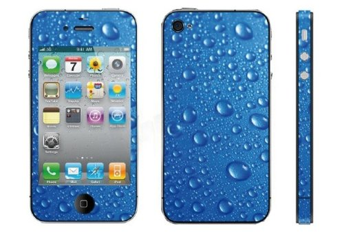 SKIN APPLE IPHONE 4/4s – Model Blue Drop