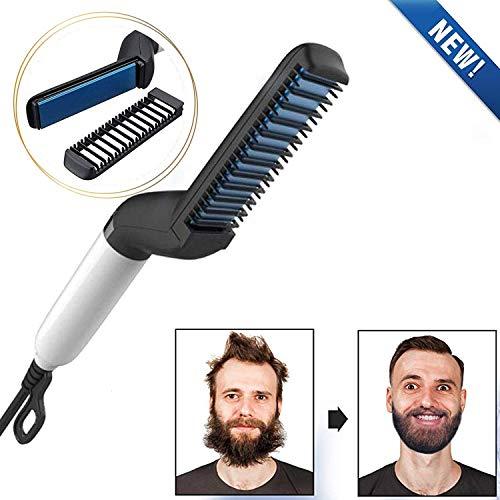 Pettine lisciante per barba piastra per capelli modellatore capelli e barba per uomini, Pettine elettrico lisciare capelli multifunzionale veloce arricciacapelli NEW Electric Hair Straightening Comb
