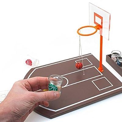 Relaxdays Jeu à boire Jeu de Basket avec 6 Verres à shots