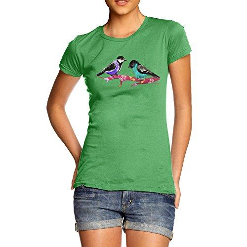Damen Pretty Birds T-Shirt Grün