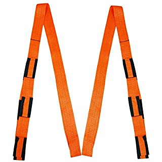 alisable Heben und Verschieben Träger (Farbe: Orange), Set 2Gurte, Move Rope Gürtel für Lifting Möbel, Schrank, TV, Betten, Hebelwirkung und Gewichtsverteilung