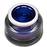 RM Beautynails Premium UV Metallic Glittergel Jewel Collection Tansanit Blau 5ml UV-Gel Profifarbgel kein absenken der Pigmente sehr hohe Deckkraft