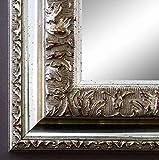 Spiegel Wandspiegel Badspiegel Flurspiegel Garderobenspiegel - Über 200 Größen - Rom Silber 6,5 - Außenmaß des Spiegels DIN A4 (21,0 x 29,7 cm) - Wunschmaße auf Anfrage - Antik, Barock