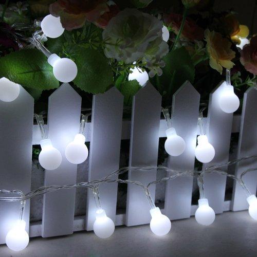 rkette Globe Gluehbirne Innen Beleuchtung Batteriebetrieben Hochzeit Deko 4 meter 40er Weiß (Die Halloween-baum Online)