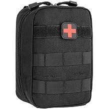 DCCN Pochette EMT Médecine Tactique Molle Sac de Premiers Soins Kit de Premier Secours Militaires pour Randonnée Camping Airsoft