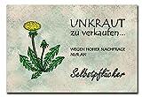 Hochwertiges Metallschild 30 x 20 cm aus Alu Verbund Unkraut