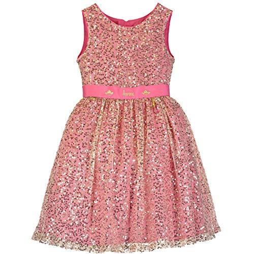 Amscan Dress Up Mädchen Kleid Aurora - Sleeping Beauty Pink & Gold Sequin 5-6 Yrs Pink and Gold 001, Jahre (Herstellergröße
