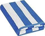 Utopia Towels - Soft Cotton Machine Washable Extra Large Bath Towel (89 x 178 cm) - Luxury Bath Sheet (Stripe Blue)