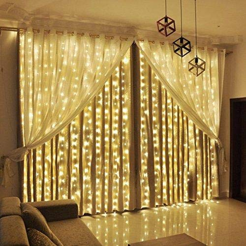 Emm Emm 30 Feet Golden LED Ladi String Light for Diwali/Xmas/Eid/Gurpurab and Marriage Decoration (Warm White)