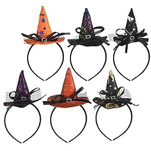 KATOOM Diadema de Bruja Halloween