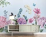 WH-PORP 3D Tapete Hohe Qualität Schöne Tapeten Pastoralen Hortensien Blumen Floral Background Wall Murals 3D Tapete-250cmX175cm