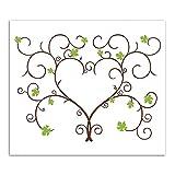 Gästebuch Hochzeit Weinreben Fingerabdruck Gästebuch UnterschriftMalerei Baum Thumbprint Baum für Hochzeit (mit Inkpad) 30 * 40cm (Typ 3)