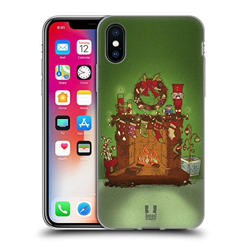 Head Case Designs Albero Festivo Christmas Essentials Cover Morbida In Gel Per Apple iPhone X Camino