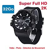 Cyber Express Electronics - Uhr Mini Kamera Spion 32 GB 2 K Super Full HD 2304 x 1296P Bewegungserkennung cel-dwf-74 - 32