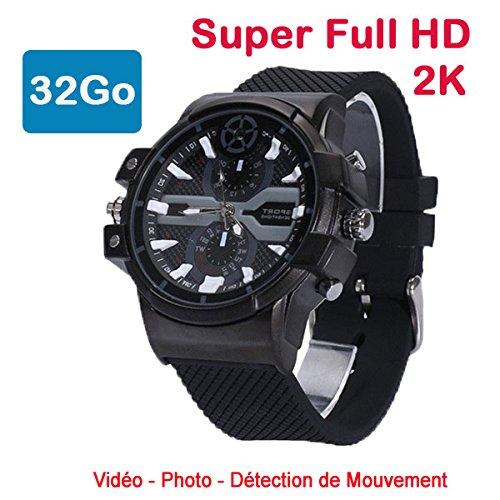 Cyber Express Electronics–Uhr Mini Kamera Spion 32GB 2K Super Full HD 2304x 1296P Bewegungserkennung cel-dwf-74–32