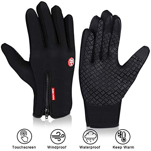 DIAOPROTECT Fahrradhandschuhe Winter, Winddicht Wasserdicht Warme Touchscreen Handschuhe, Sporthandschuhe Radsport-Handschuhe Laufhandschuhe Winterhandschuhe für Herren Damen Männer