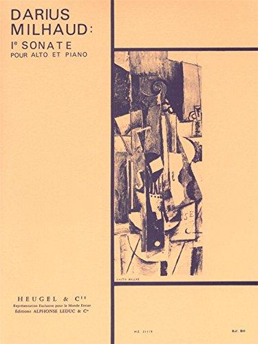 Darius Milhaud: Sonate No.1, Op.240 (Viola & Piano). Für Bratsche, Klavierbegleitung