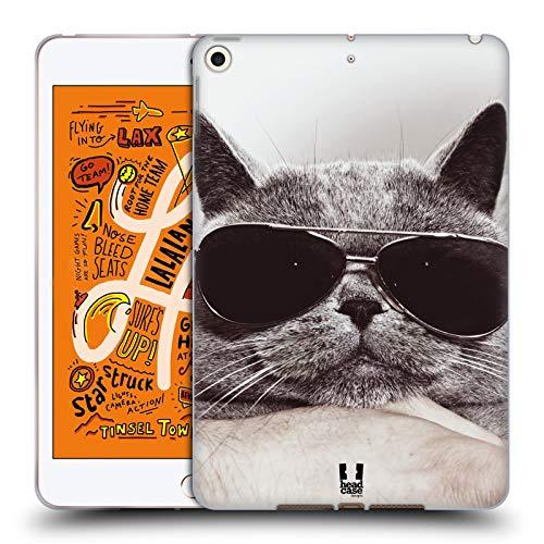 Head Case Designs Graue Britische Katze Mit Sonnenbrille Katzen Soft Gel Huelle kompatibel mit iPad Mini (2019)