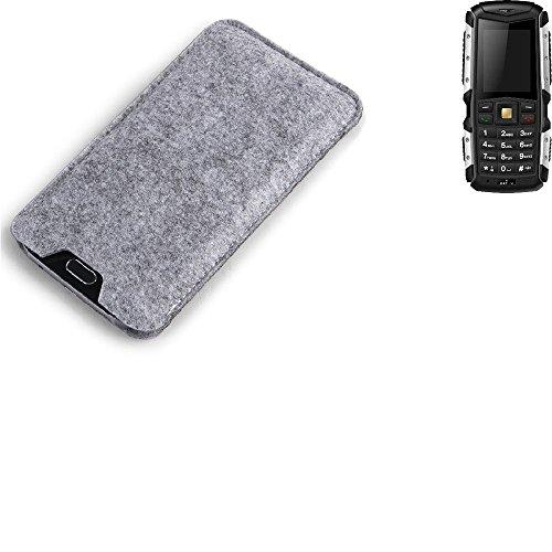 K-S-Trade Filz Schutz Hülle für Jiayu F2 Schutzhülle Filztasche Filz Tasche Case Sleeve Handyhülle Filzhülle grau