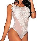 LenceríA EróTica Mujer Lanskirt Babydoll Pijamas Mujer Verano Sexy Bodysuit Transparente Elegante de Mujeres Ropa Interior de Encaje Slim Fit Ropa de Dormir SiaméS Body Ropa de Noche Sexy
