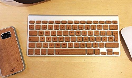 Holz Tastatur Aufkleber macbook EU. Modelle MacBook 13-15-17(2015und älter) Macbbok Pro 13-15(2016-17) Wireless Tastatur Keyboard und Magic. Real Kirsche/Ahorn - 15 Pro Holz-tastatur Macbook