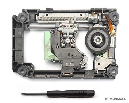 PS4 Blu-Ray Laser mit Schiene KEM-496AAA - Ersatz Laufwerk DVD Laser Lens Rahmen/Schlitten / Deck und KES-496 Optical Head für PS4 Slim CUH-20xx and PS4 Pro CUH-70xx, Torx T8 Security Schraubendreher