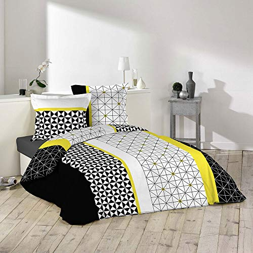 Housse de couette - 240 x 260 cm + taies - Yellowmétric - Motifs scandinaves