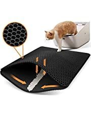 Cat Mats for Litter Box, Small Litter Trapping Mat for Litter Box Double Layer, Waterproof Kitty Cat Litter Mat Trapper for Trapper Litter Box Easy to Clean