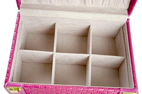 Feibrand-Piel-sinttica-patrn-tejido-caja-de-joyera